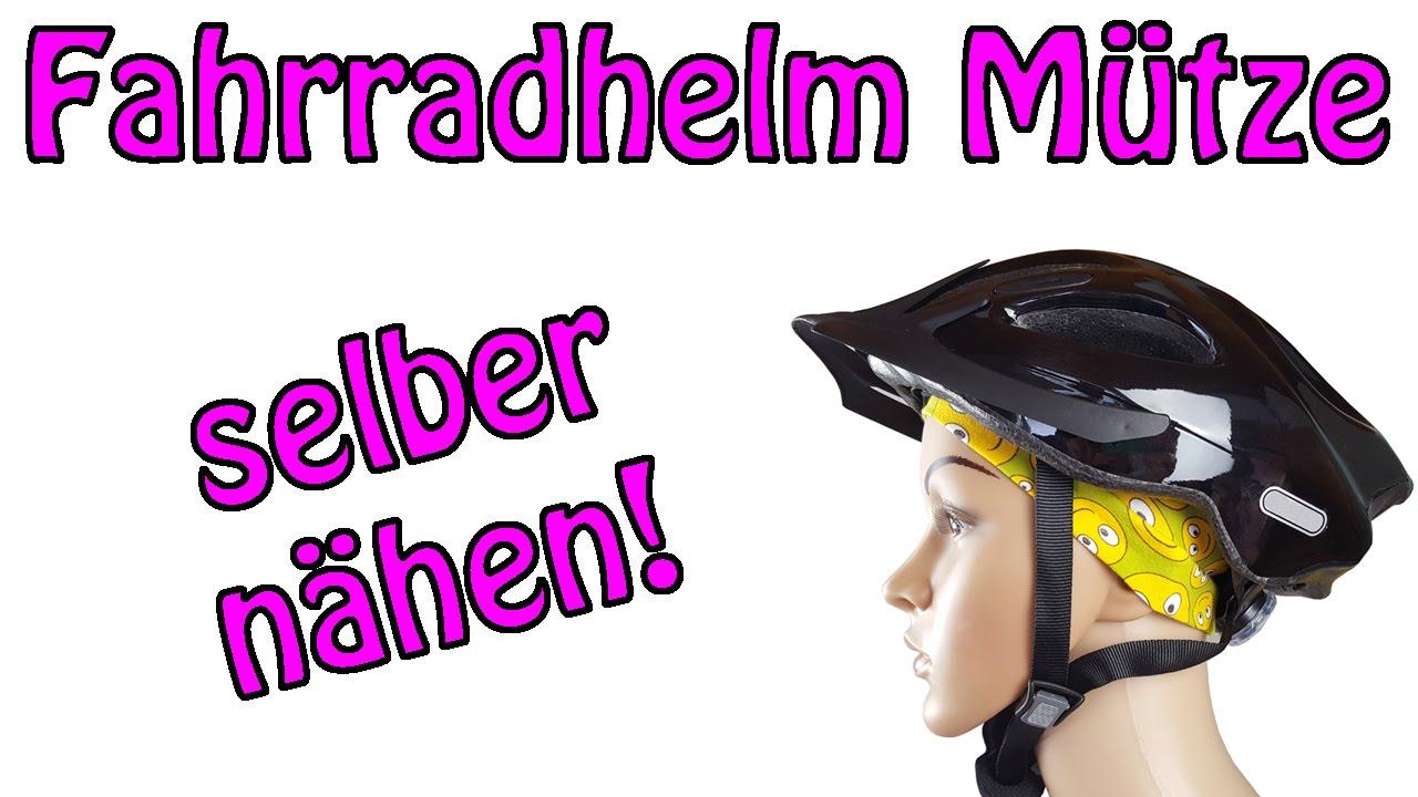 Fahrradhelm Mütze mit flacher Naht - Nähen für Anfänger - YouTube
