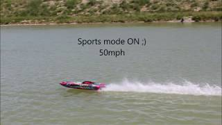 RC boat - Traxxas m41 model. with crash ;)