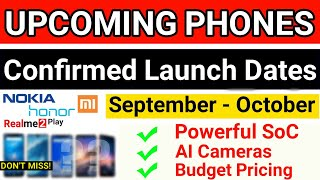 TOP UPCOMING PHONES IN INDIA SEPTEMBER - OCTOBER 2018! Realme 2 play, Honor 8x, Redmi note 6 pro?