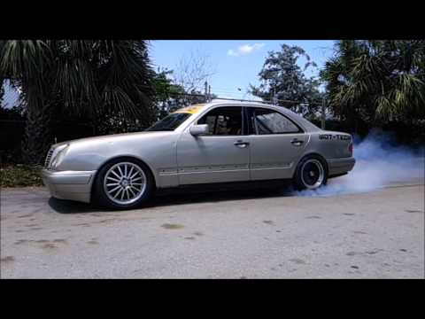 LS1 Swapped Mercedes Benz w210 burnout - YouTube