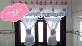 Cortina de cozinha passo a passo – kitchen curtain