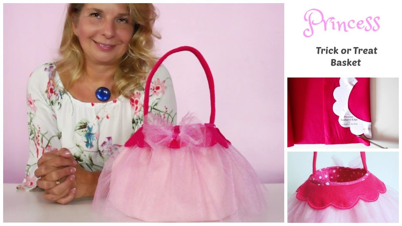 princess costume trick or treat - halloween treat bag - diy - youtube