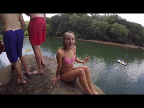 Cliff Jumping at the Chattahoochee (Diving Rock, R by Kyra Perry