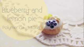 Tutorial: Blueberry And Lemon Pie ♥
