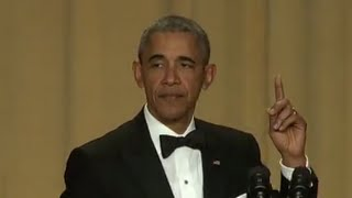 Obama Drops the Mic at His Last White House Correspondents Dinner