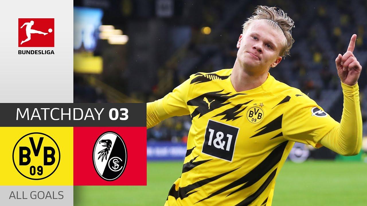 Haaland Bvb On Fire Borussia Dortmund Sc Freiburg 4 0 All Goals Matchday 3 Bundesliga Youtube