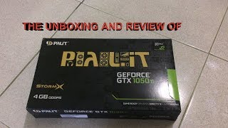 palit GeForce GTX 1050ti 4gb 128bit StormX Unboxing and review