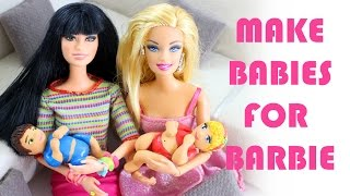 How to Make a BABY FOR BARBIE - Easy Doll Crafts
