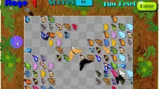 Играем в Маджонг Бабочки