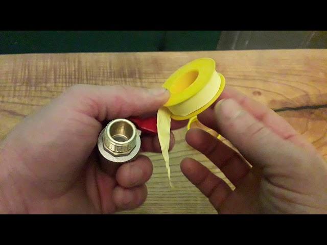 Как правильно наматывать фум ленту на резьбу.