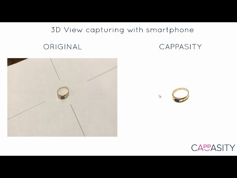 Cappasity 3D capturing for smartphone. 3D imaging and photography solution for e-commerce