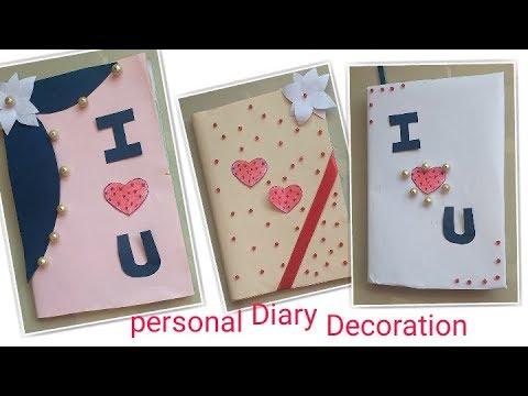 DIY 3 Notebook Cover Design || 3 Parsonal Diary Decoration Idea