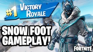 "NOUVEAU FORTNITE ""SNOW FOOT"" SKIN GAMEPLAY (Fortnite Snow Foot Victory Royale Gameplay"