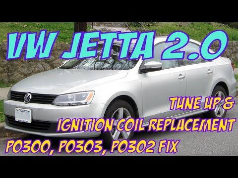 VW Jetta Ignition coil replacement. Tune up Pt 1. P0300, P0302, P0303 FIX