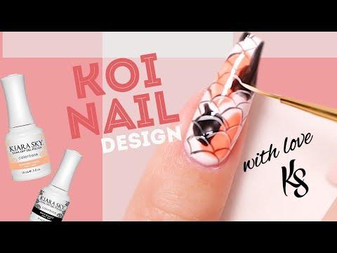 Koi Fish Nail Art Tutorial Featuring Red Iguana