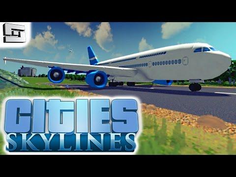 Cities Skylines Gameplay: AIRPORT!!! E18