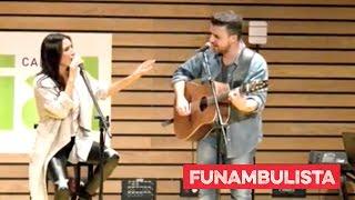 """India Martínez y Funambulista en directo. Acústico """"Fiera"""" Cadena Dial."""