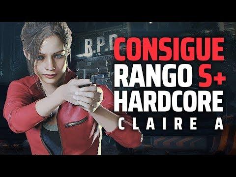 RESIDENT EVIL 2 REMAKE | Conseguir RANGO S+ En HARDCORE CLAIRE A | CONSEJOS Y TRUCOS ESPAÑOL