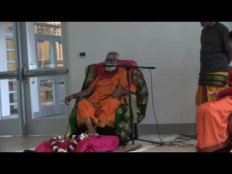 Courtallam Swamiji October  2015   Anugraha Bhashanam Homam Hanuman Temple Frisco