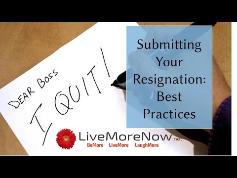 Submitting Your Resignation: Best Practices