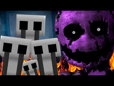 GHOST CHILDREN BREAK OUT OF THE PURPLE MANS SECRET BUNKER!   Minecraft FNAF (Five Nights at Freddys)