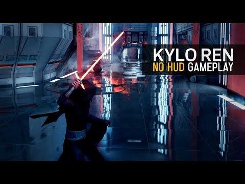 Battlefront II Kylo Ren on Starkiller Base! No HUD 1440p 2K Gameplay