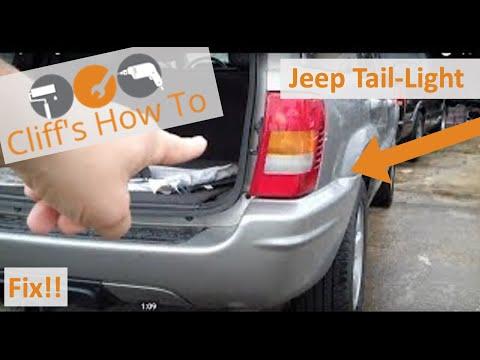 2017 Grand Cherokee >> Jeep Grand Cherokee WJ Tail Light Fix - YouTube