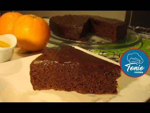 Irresistible Pastel de almendra, chocolate y naranja (sin Gluten)   Receta fácil