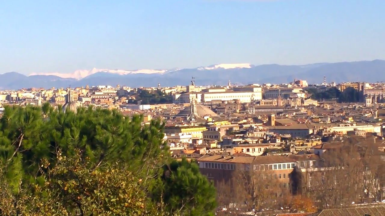 Rzym Widok Z Janikulum Roma Dal Gianicolo 2 5 01 01 2015