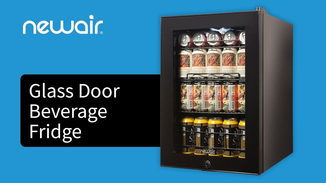 90 Can Glass Door Beverage Fridge Newair Ab 850b Youtube