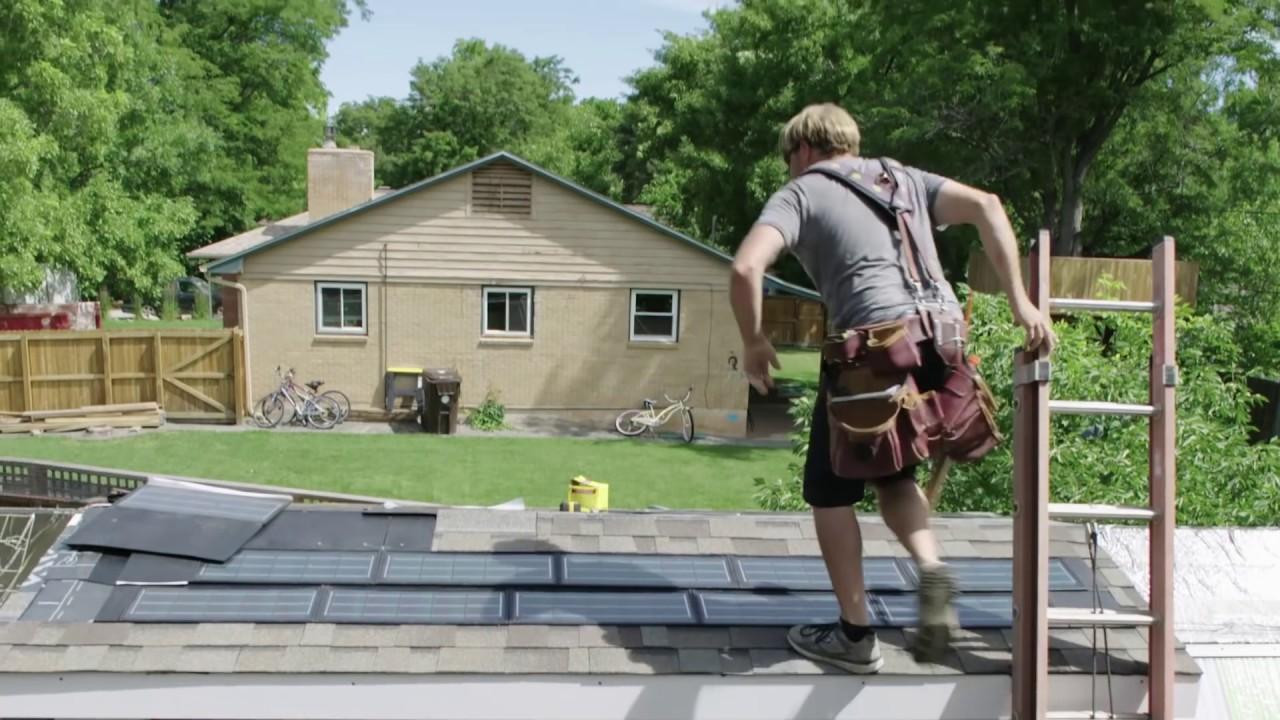Solar Panel Shingles In Zack Giffin S Tiny House Youtube