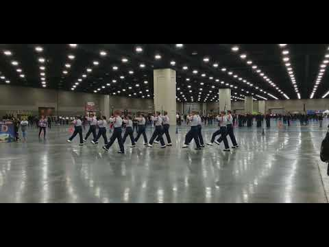 Bellaire HS Red Ranger Drill Team - Armed Exhibition Army Nationals 2018