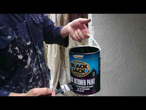 maintaining cast iron gutters with everbuild black jack  bitumen paint