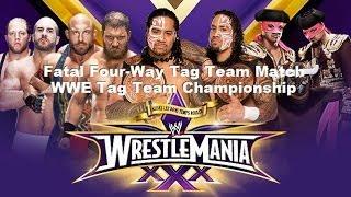 WWE 2K14 WrestleMania XXX Sims - WWE Tag Team Championship