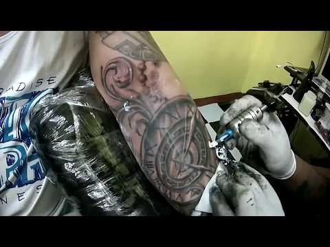 custom pocket watch tattoo