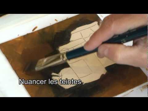 Effets reflets et transparence youtube for Peinture effet miroir