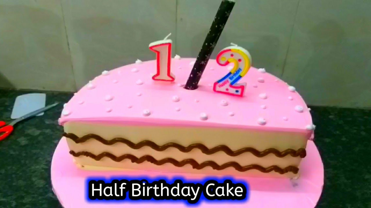 12 birthday pink number candle  half birthday candle 6 month
