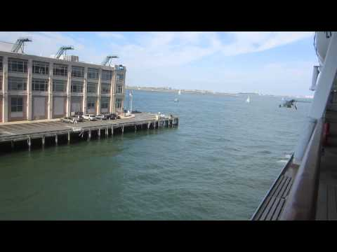Leaving Boston port on Norwegian Dawn Cruise Line - 7/6/12