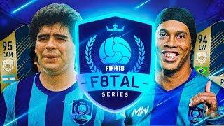 PRIMERA ELIMINATORIA DE F8TAL!! | MARADONA VS RONALDINHO | FIFA 18