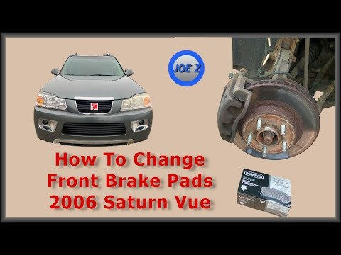How to replace brake pads 2006 Saturn Vue