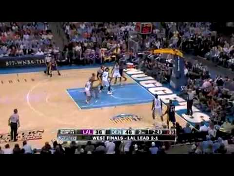 NBA Playoffs 2009  Lakers vs Nuggets Game 4 highlight