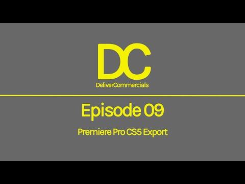 Broadcast Delivery 101 - Episode 09 Export Premiere Pro CS5
