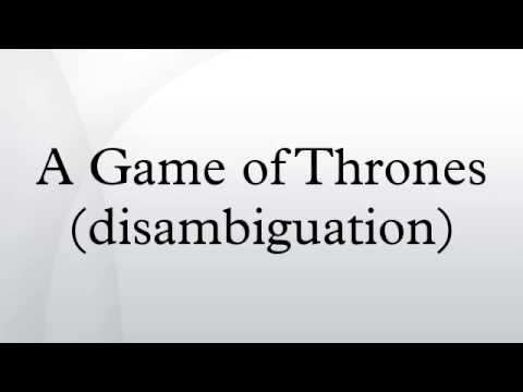 A Game of Thrones (disambiguation)
