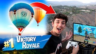 I Won a Game of FORTNITE in a HOT AIR BALLOON!! **NOT CLICKBAIT**
