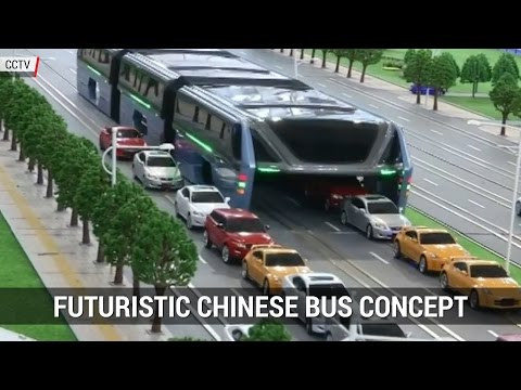 China Futuristic Transport Concept 2016   Transit Elevated Bus TEB