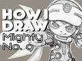 How I Draw Beck Mighty No. 9 Time-Lapse Drawing