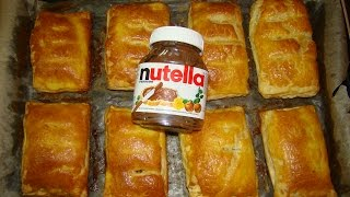 Слоеные пирожки с NUTELLA(Puff pastry with NUTELLA)