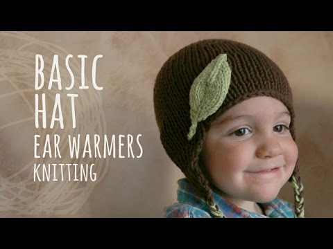 Tutorial Basic Knitting Hat With Ear Warmers Youtube
