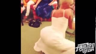 Amber Rose Twerking in her Wedding Dress