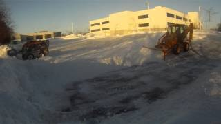 Skid Steer and Loader Plowing Snow- Kitchener/Waterloo